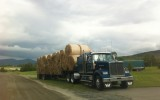 This is the first load of hay we sold. We sell 4X5 dry round bales, mostly first cutting.